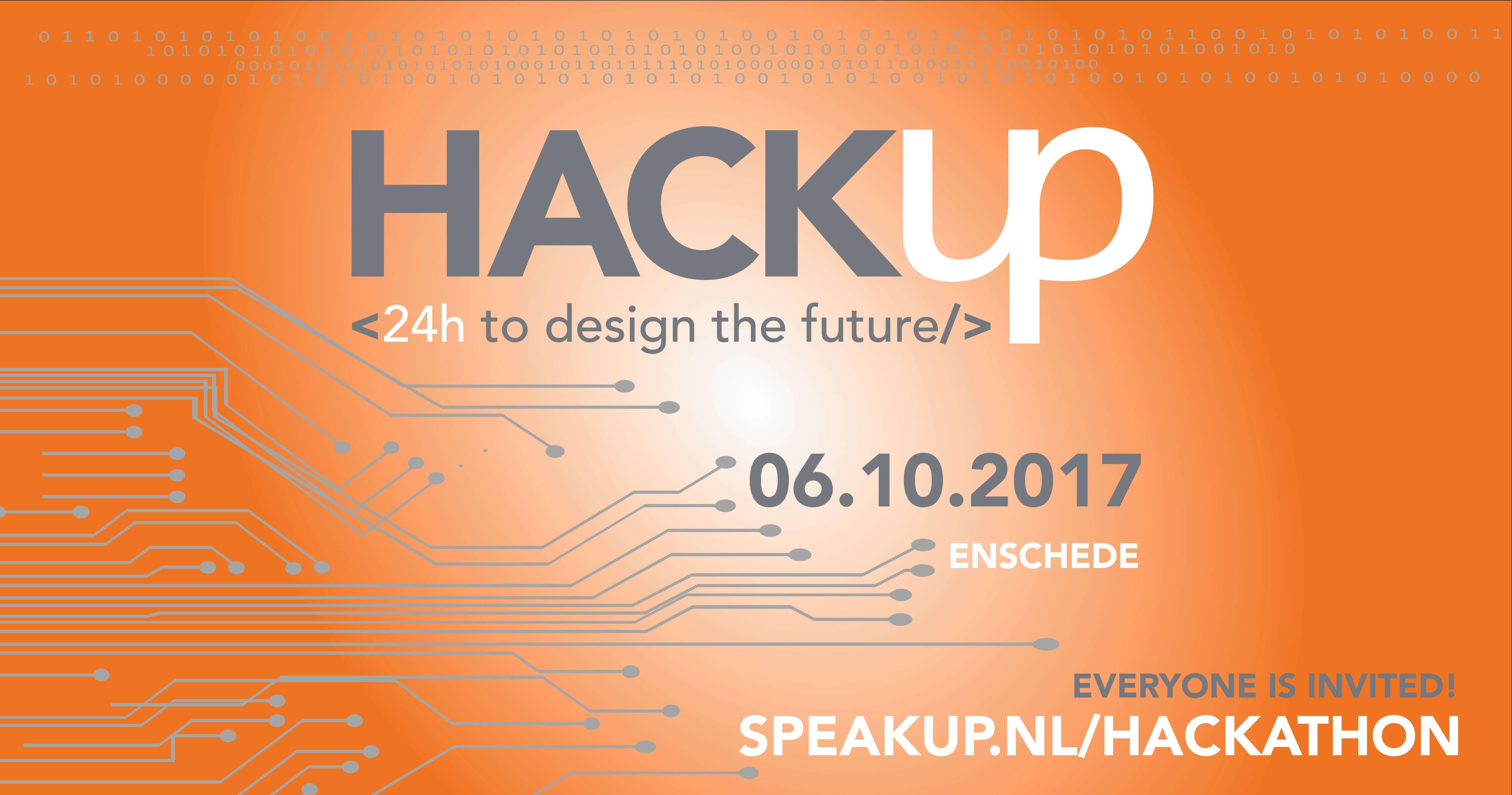 Speakup wil wil bedrijfsleven en student meer met elkaar verbinden. Daarom organiseert het bedrijf op 6 oktober 2017 een 24-uur durende Hackathon.