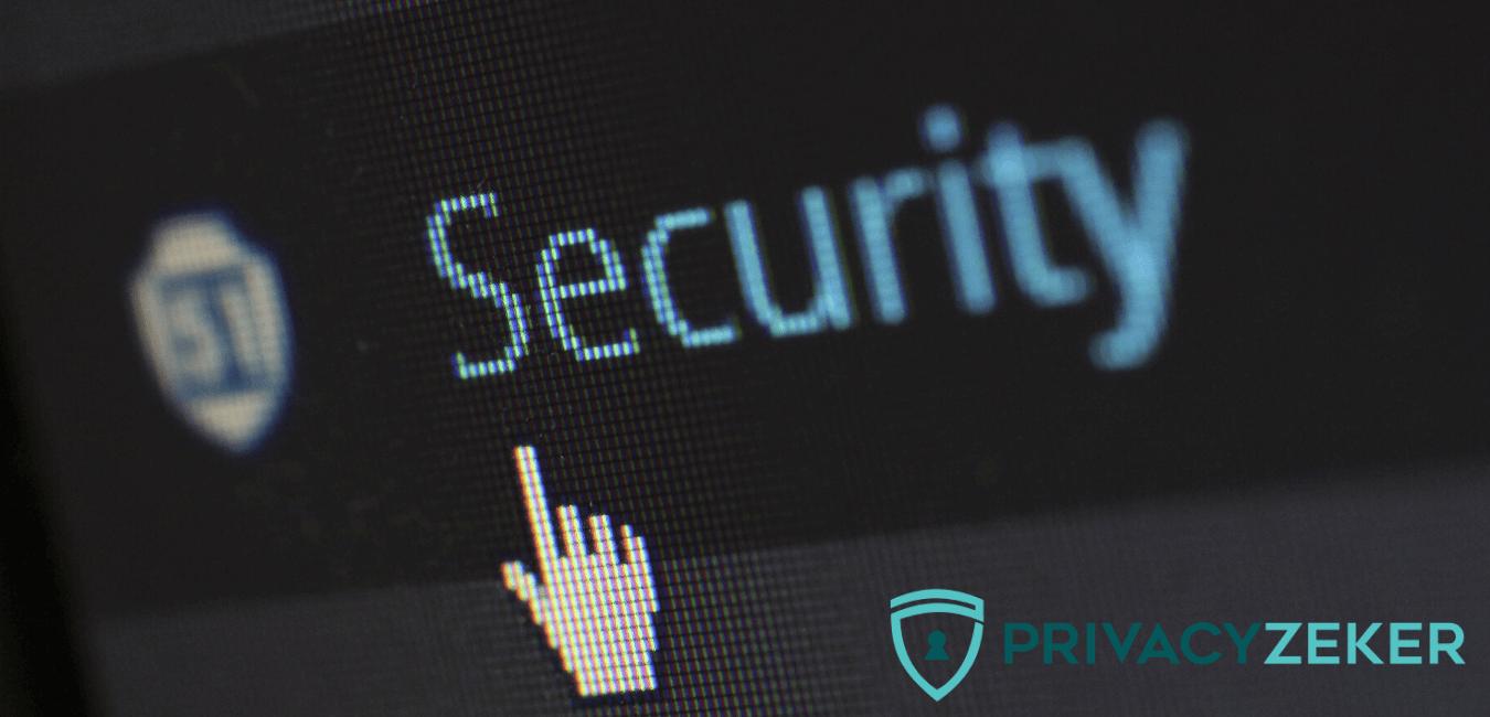 avg en beveiliging check van privacy zeker